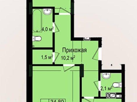 003071 * 2к.кв. Новые дома