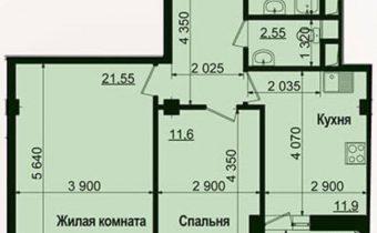 003139 * 2к.кв. ЖК Пролисок-2