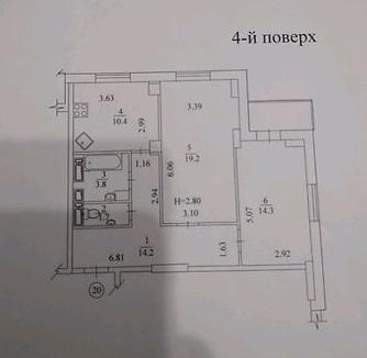 008160 * 2к.кв. на Одесской