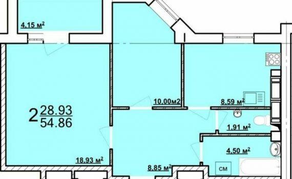 014166 * 2к.кв. ЖК Радужный. комнатную изолированную квартиру в ЖК РАДУЖНЫЙ на Новых домах, м.Дворец спорта. Дом сдан. Квартира находится на 6 этаже 9- э