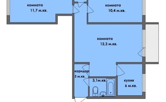 008221 * 3к.кв. Новые дома