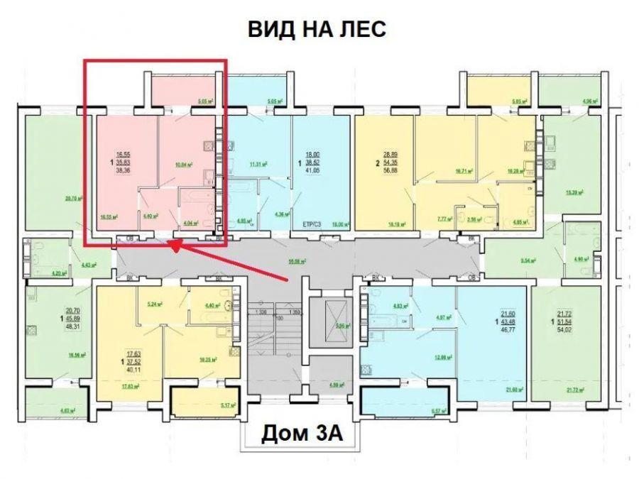 013131 * 1к.кв. ЖК Победы-2